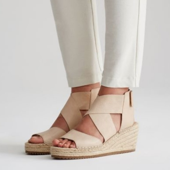 fc3a435694c Eileen Fisher Willow wedge in Desert color NWT